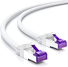deleyCON 2m RJ45 Cable de Conexión Ethernet & Red con Cable en Bruto CAT7 S-FTP PiMF Blindaje Gigabit LAN SFTP Cobre DSL Conmutador Enrutador Patch Panel - Blanco