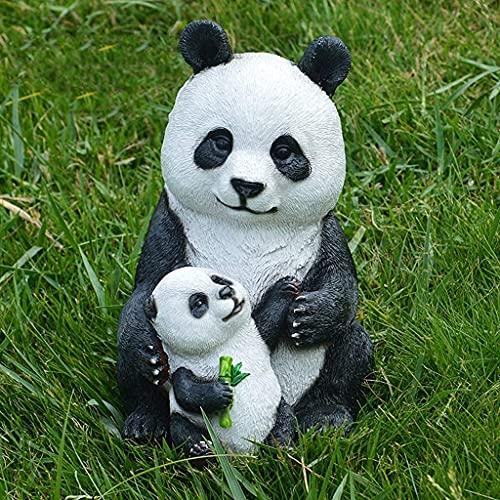 Estatua de jardín Adorno de jardín impermeable Adorno de jardín de panda, Escultura de panda Paisaje de jardín al aire libre Decoración de animales, Estatua de resina impermeable para decoraci