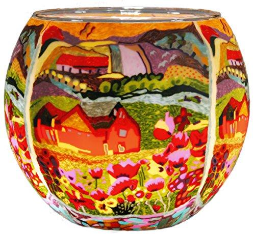 Himmlische Düfte Geschenkartikel GmbH Dreamhouse Windlicht, Glas, bunt, 11 x 11 x 9 cm