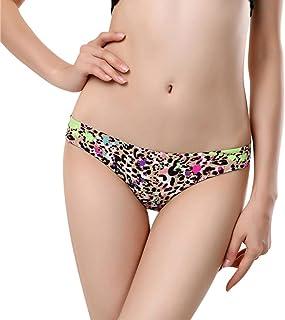 Gocheaper Women Lace Printed Low Waist Triangle Panties,Seamless Cotton Panty Hollow Briefs Underwear