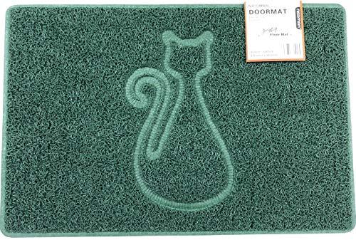 Nicoman Cat Paillasson à Spaghetti Lavable au Jet Vert Taille L 90 x 60 cm