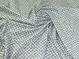 Lady McElroy Baumwoll-Piqué-Stoff, Meterware, Blau