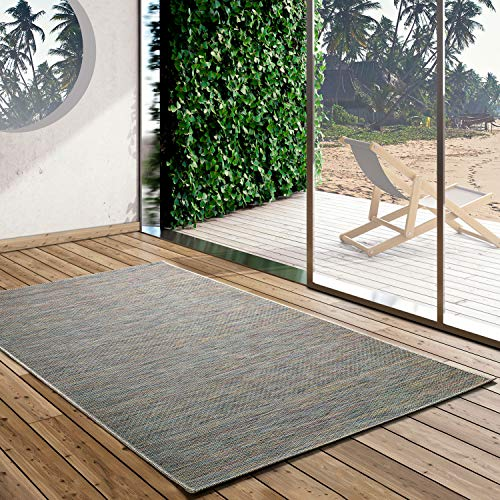 UNIVERSAL Alfombra Indoor-Outdoor Bliss Degraded, 100% Polipropileno, Oro, 75 x 150 cm