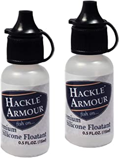 Hackle Armour Premium Silicone Fly Floatant 2 Pack - Temperature Stable Floatant