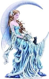 comprar comparacion Nemesis Now - Figura Decorativa (24 cm, 36 cm), diseño de la Luna del Viento, Color Azul