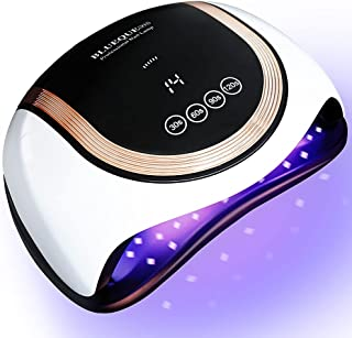 Sponsored Ad - UV LED Nail Lamp, Gugusure 180W UV Nail Curing Lamps with 4 Timer Settings, 60 Light Beads Fast UV Light fo...