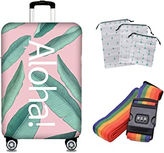 Suitcase Cover Travel Anti-Skid Anti-Theft Protective Cover Elastic Shockproof Breathable Water Wash Luggage Bag 18-32 Inches