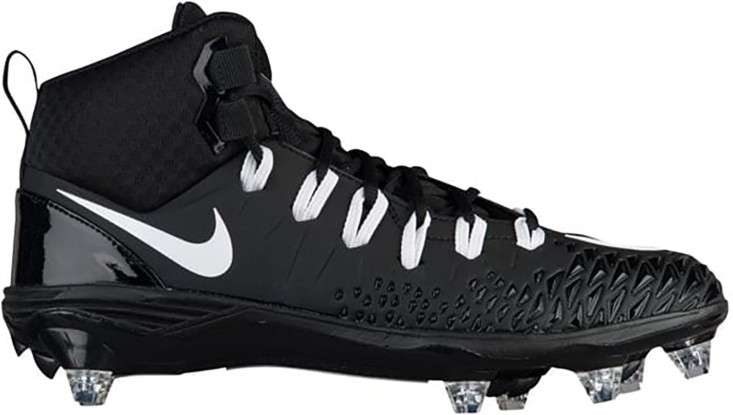 Nike Force Savage Pro D Football Cleats shoes Mens Size 10 (Black, White)