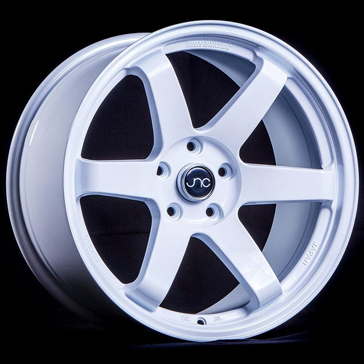 JNC014 White 19x9.5 5x114.3 ET25 Offset Wheel Rim