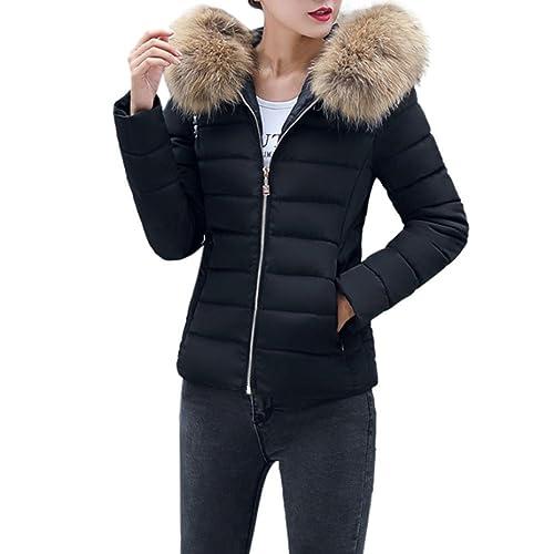 b125499dc5f BURFLY Women Puffer Jackets Coats , Ladies Fashion Winter Warm Slim Fit  Short Overcoat Outwear,