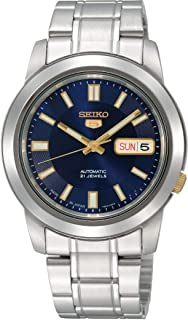 Seiko 5 Men's Blue Dial Stainless Steel Band Automatic Watch - SNKK11K1