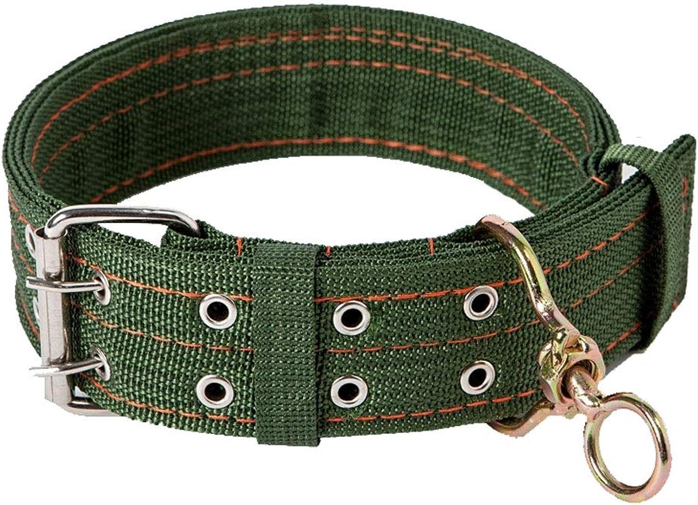 Pet Supplies Dog Nylon Collar Lightweight and Durable for Medium and Large Dogs Jin Mao Demu,Dark Green,M