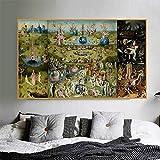 Pinturas En Lienzo El Jardín De Las Delicias En La Pared Arte Famoso De Hieronymus Wall Art Posters Imágenes para Sala De Estar, Carteles Vintage Art-50X70Cm