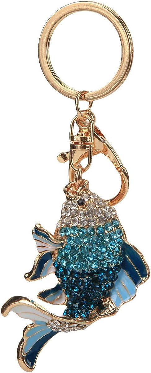 Fawziya Crystal Keychain Cute Fish Keychains For Women For Car Key