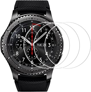 AFUNTA Screen Protector Compatible Samsung Gear S3 Frontier and Classic, 3 Pack Smartwatch Tempered Glass Film Anti-Scratch High Definition Cover
