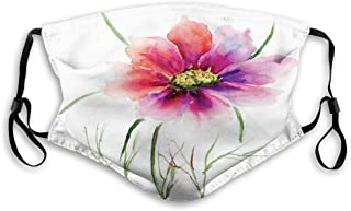 Beautiful Two Colored Flower Blossom Nature Spring Revival of Life Reusable Face Mask Balaclava Outdoor Nose Mouth Cover f...