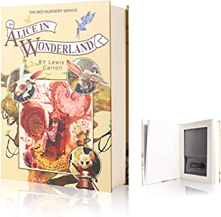 Real Pages Diversion Book Safe with Combination Lock,Hollowed Out Book Anti-Theft Safe -Alice in Wonderland(Full Si...