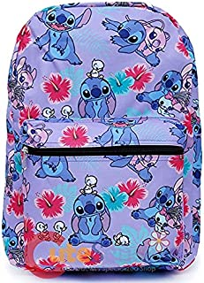 "Lilo and Stitch Mini Backpack Interchangeable Shoulder Cross Bag 6/"" Hwaiian"