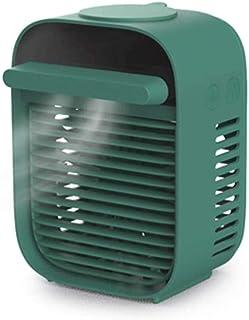 Jieer Enfriador de Aire, 3 en 1 Enfriador de Aire Portátil Acondicionador Fanair USB Mini Humectante de Escritorio Mini Radiador de Hielo Sin Ruido Escritorio de Oficina, Dormitorio, Dor