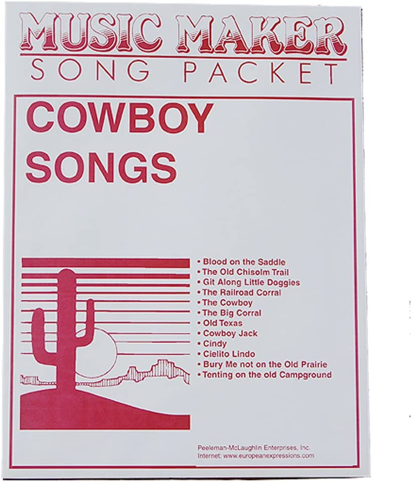 Cowboy song packet for the European Maker High material Expressions Music by Max 64% OFF
