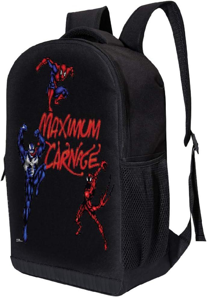 MARVEL COMICS CLASSIC SPIDERMAN BACKPACK Spiderman Web Eyes MARVEL BLACK SPIDERMAN 18 INCH AIR MESH PADDED BAG