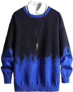 HEFASDM Men's Fall Winter Oversized Knitwear Warm Knit Blouse T-shirt Tops