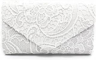 Kpasati Mode Damen Clutch, Elegante Blumenspitze Umschlagtasche, Party Prom Handtasche, Kartenhalter