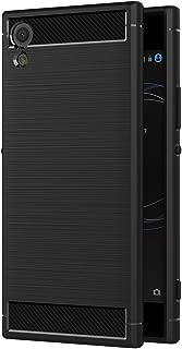 AICEK Funda Sony Xperia XA1, Negro Silicona Fundas para Sony XA1 Carcasa Xperia XA1 Fibra de Carbono Funda Case (5,0 Pulgadas)