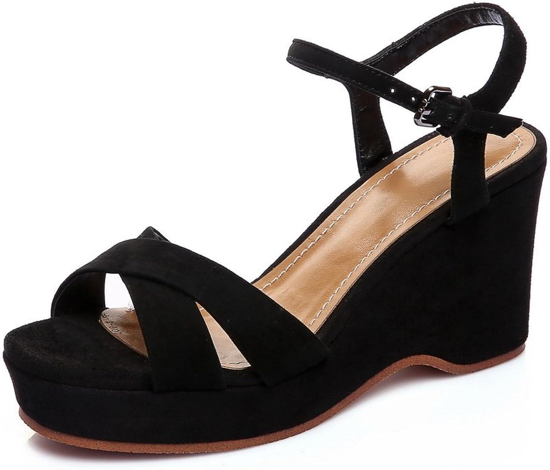 BalaMasa Womens Sandals Peep-Toe Water_Resistant Fashion Urethane Nubuck Urethane Sandals ASL04639