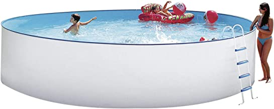 Steinbach Stahlwandpool Set Nuovo Durchmesser 400 x 90 cm, Pool, Leiter, Skimmer, Einlaufdüse, Schläuche, 011091