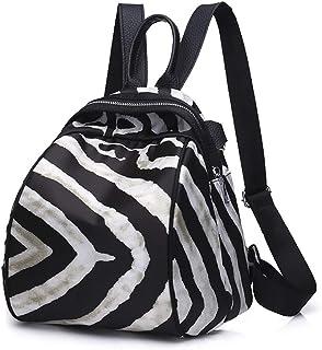 BAN SHUI JU MINSU GUANLI Mochila Oxford De Tela con Textura De Cebra Mochila De Viaje De Gran Capacidad (Color : Zebra Pattern)