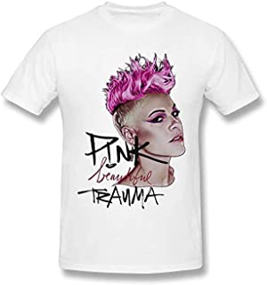Pink Beautiful Trauma P!nk Tees Inspired Men's Fancy Funny Short-Sleeved Fans T-Shirt