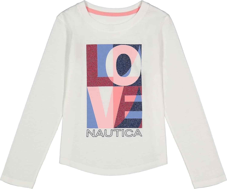 Nautica Girls' Long Sleeve Graphic T-Shirt