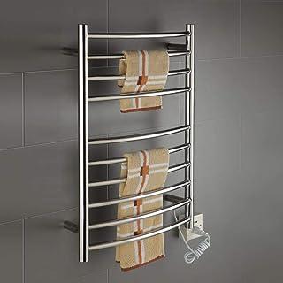 Montaje en Pared toallero de baño Calentador radiador Caliente Invierno eléctrico Calentador de Toallas eléctrica de Acero Inoxidable calentado-cromo-750 * 520 * 125-90W Manual