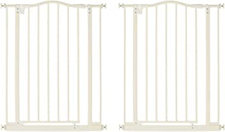 North States Supergate Portico Arch Tall & Wide Baby Safety Gate, Linen (2 Pack)