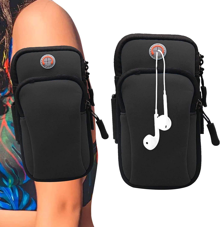 Universal Mobil Cell Phone Carry Case Sport Gym Jogging Zipper Bag Flexible Belt