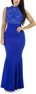 evening dress royal blue
