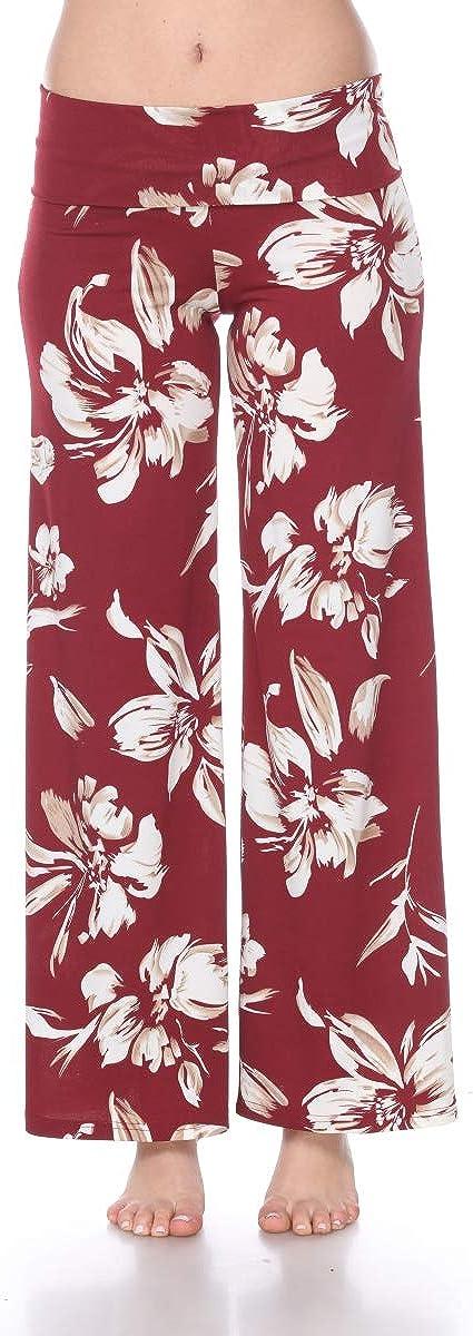 white mark Women's Wide Leg Palazzo Pants Printed