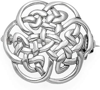 Spilla celtica rotonda in argento Sterling – Dimensioni: 20 mm Peso: 3 g. Spilla celtica in argento confezione regalo – 90...