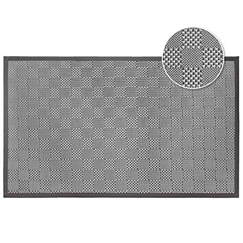 douceur d'intérieur tapis rectangle 45x75 cm pvc simeo taupe