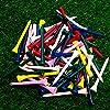 ゴルフティープロウッドゴルフティーパック100個ゴルフティー複数色サイズ3-1 / 4インチ 83 mm、2-3 / 4インチ 70mm または2-1 / 8インチ 54mmトールゴルフテ摩擦を低減
