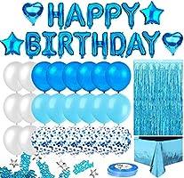 Korins Cumpleaños Decoracione, Happy Birthday cumpleaños, Pompones de Papel, Globos de Papel de Oro para Hombres y...