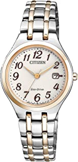 Citizen Women's Solar Powered Wrist watch, stainless steel Bracelet analog Display and Stainless Steel Strap, EW2486-87A
