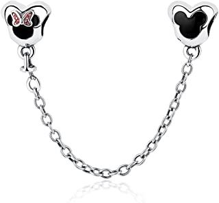 Disney, Mickey & Minnie Love, Charm 925 Sterling Silver Charms Fit Pandora & Other European Charm