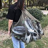 Bolso señuelo, Tela de Malla con Correas para los Hombros Bolso señuelo de Malla, cordón Exterior Firme para Acampar Pesca al Aire Libre