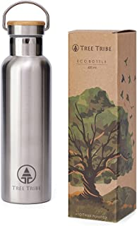 Tree Tribe Stainless Steel Water Bottle - Insulated, Indestructible, Eco Friendly