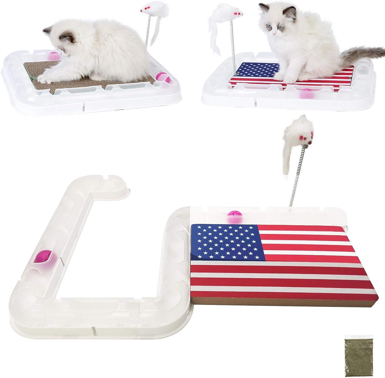 petellow Cat Toys High order with Direct store ScratcherCat Play Rail DIY Ca Balls