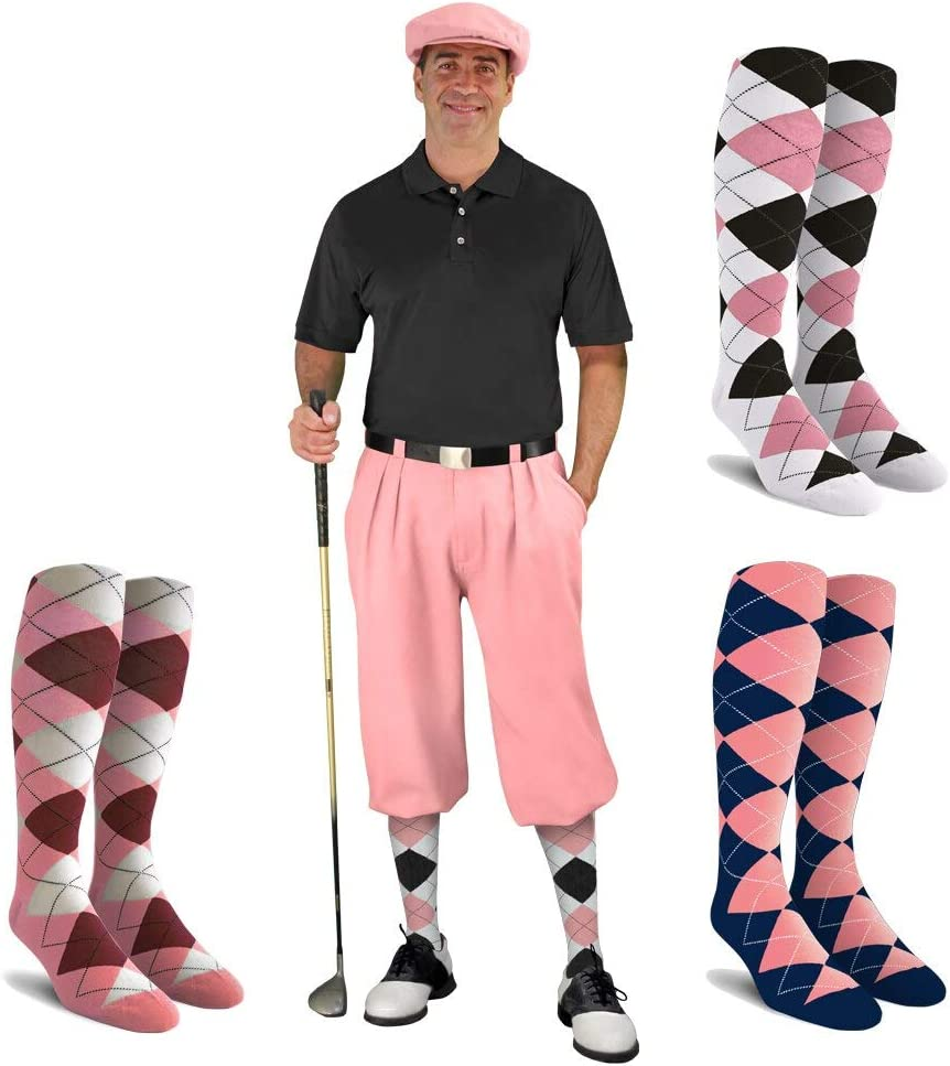 Golf Knickers Fashionable New products world's highest quality popular Mens Albatross Outfit Ar Pink - Cap 3