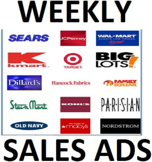 Weekly Sale Ads & Coupons Of All Major Department Stores & Supermarkets (NO ADS.)