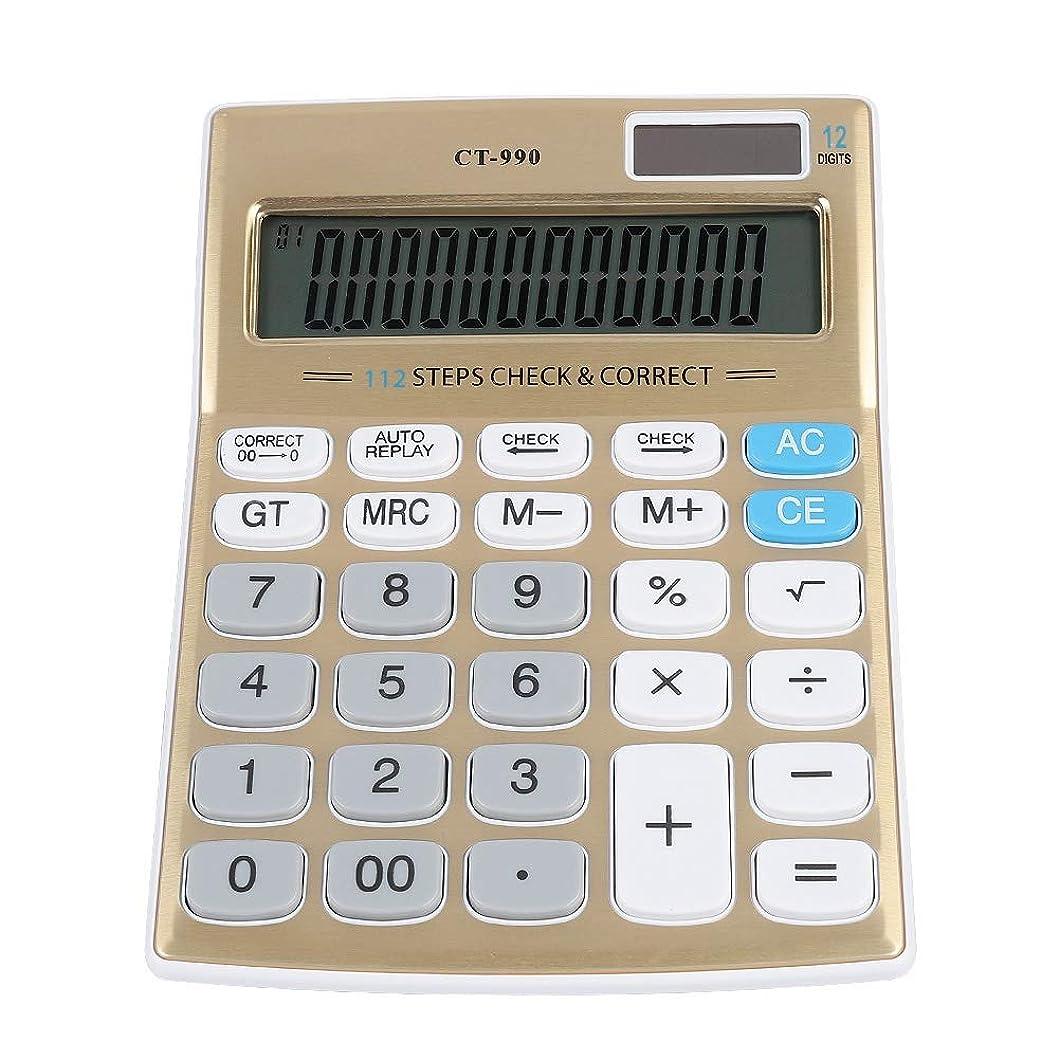 優しい尋ねるチューリップV BESTLIFE 電卓 12桁 太陽電池 充電 ベーシック デスクトップ サイエンス電卓 大きな画面とボタン付き 学生 オフィス ビジネス 財務用